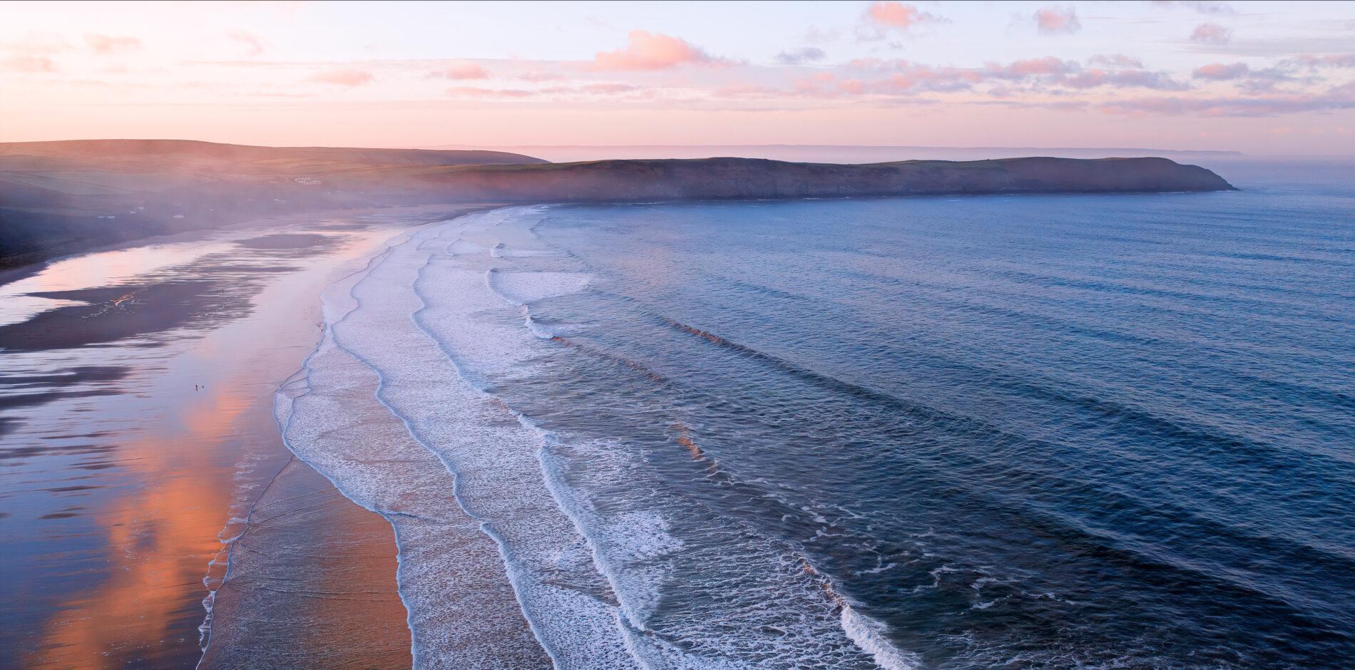 Woolacombe beach fromthe air